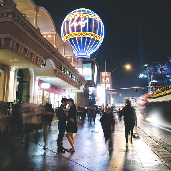 Anthony + Courtney | Road Trip to Vegas Engagement
