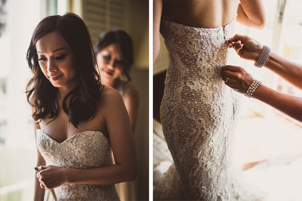 Bride Dress Getting Ready