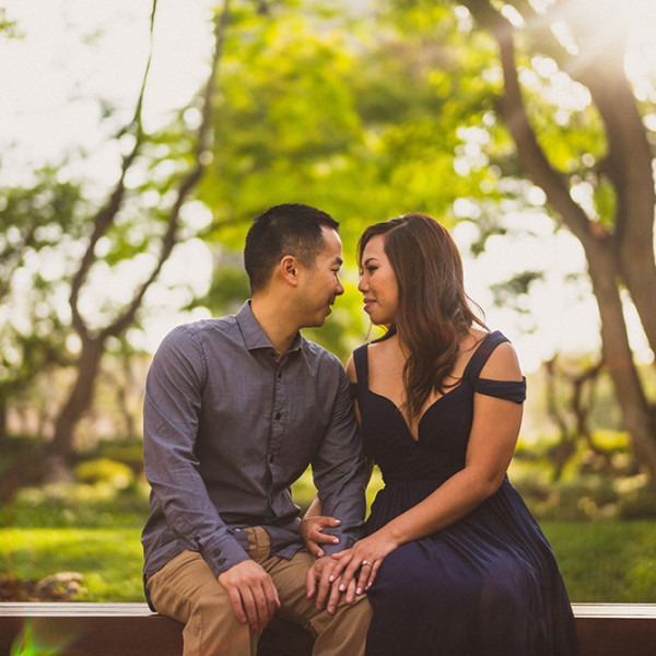 Lana + Thanh | Engagement Shoot @ The Los Angeles County Arboretum