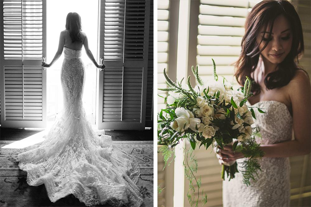 Bride Wedding Dress Train Lace