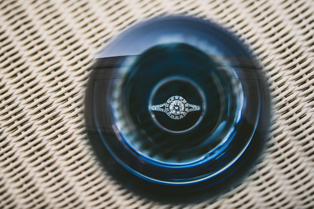 Lens Chimping Wedding Ring