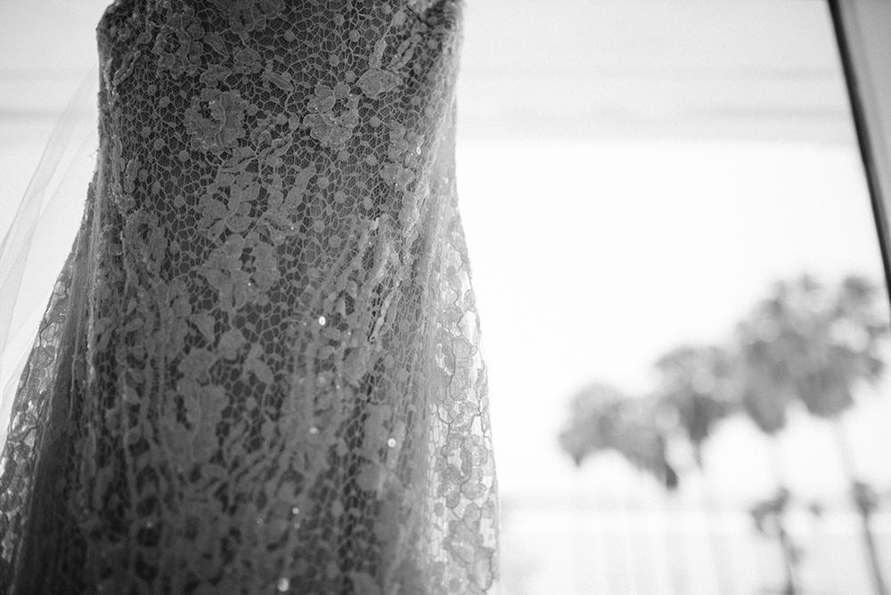 Wedding Dress Beach Shutters on the Beach